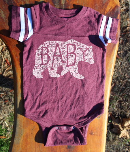 What's In A... - KIDS CUSTOMIZABLE DESIGN - Burgundy Jersey (Infant)