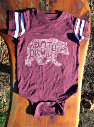 What's In A Brother - Burgundy Jersey (Infant)