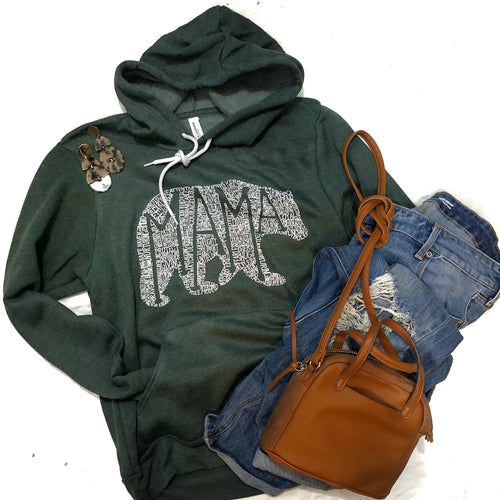 What's In A Mama Forest Green Sponge Hoodie