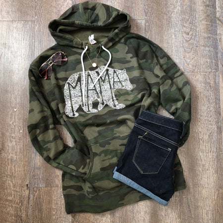 Mamas Of Mayhem military green tee