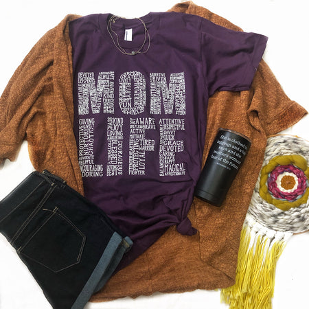 What's In A Mama Mauve Crew Neck