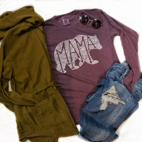 What's In A Mama Comfort Colors Long Sleeve