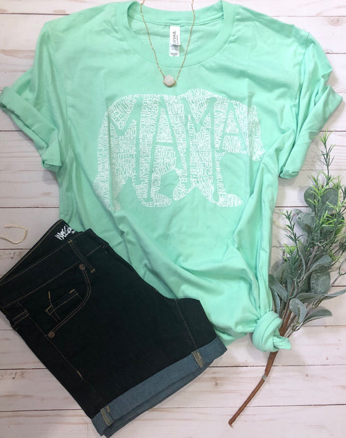 What's In A Mama mint tee