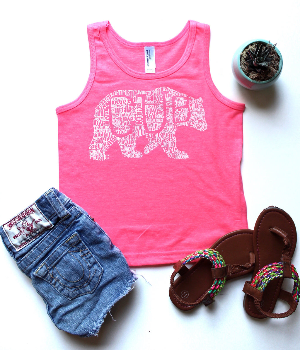 Kids tank top (customizable design)