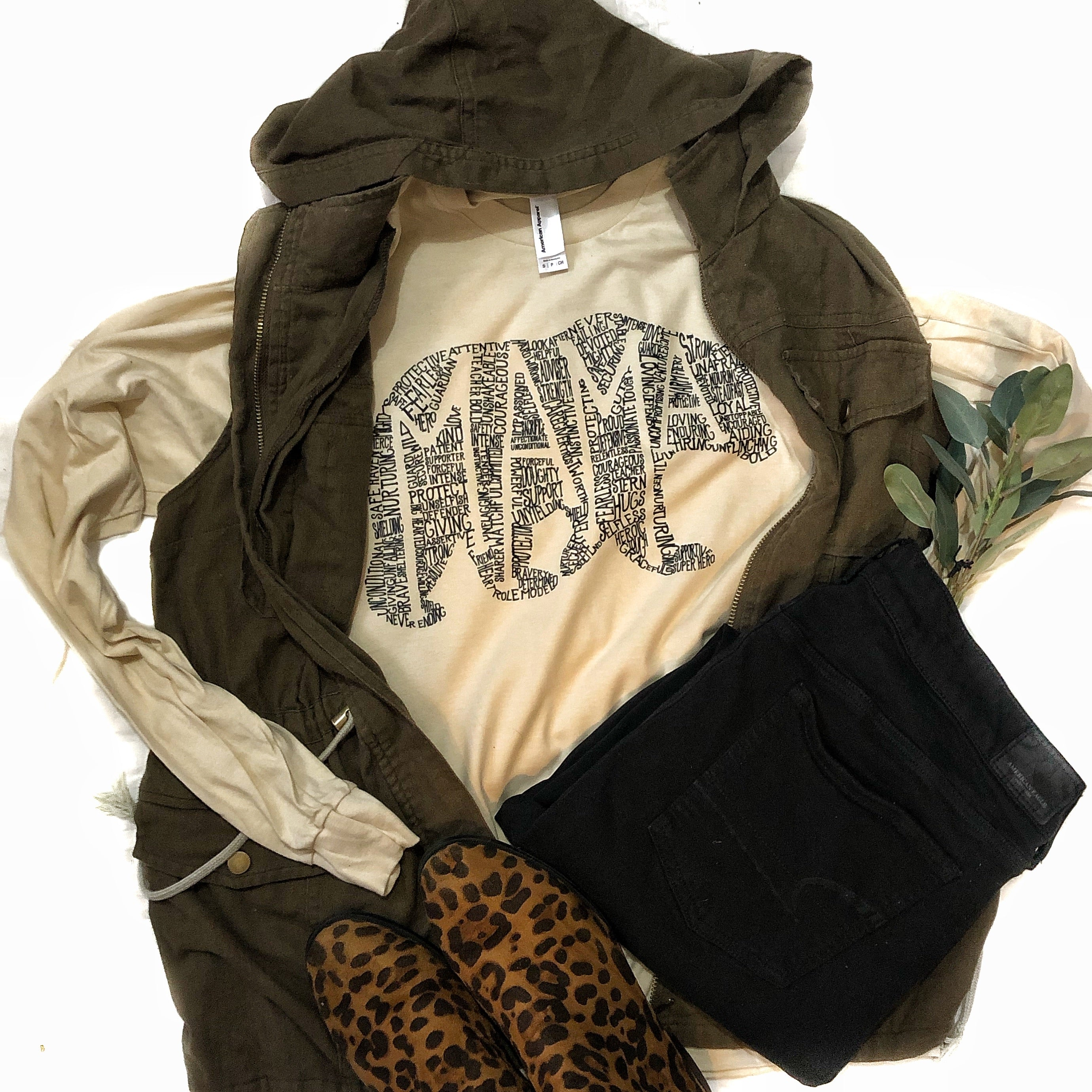 What's In a mama natural long sleeve tee