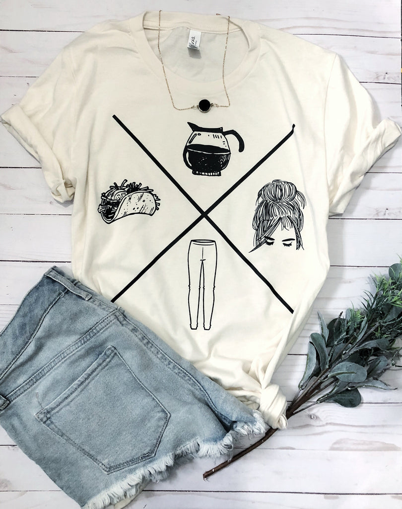 Adult-ish icon tee (NATURAL)