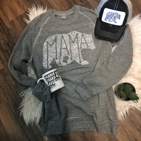 What's In A Mama fleece sweatshirts (more colors available)