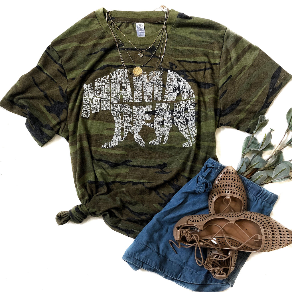 Camo OG What's In A Mama eco blend tee