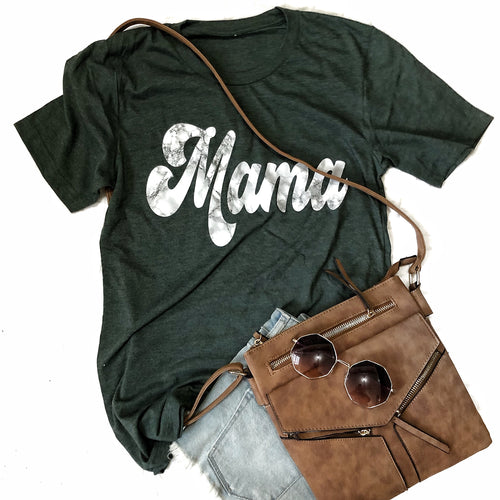 Marble Mama Forest Green tee