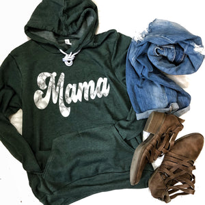 Marble Mama Forest Green Sponge Hoodie