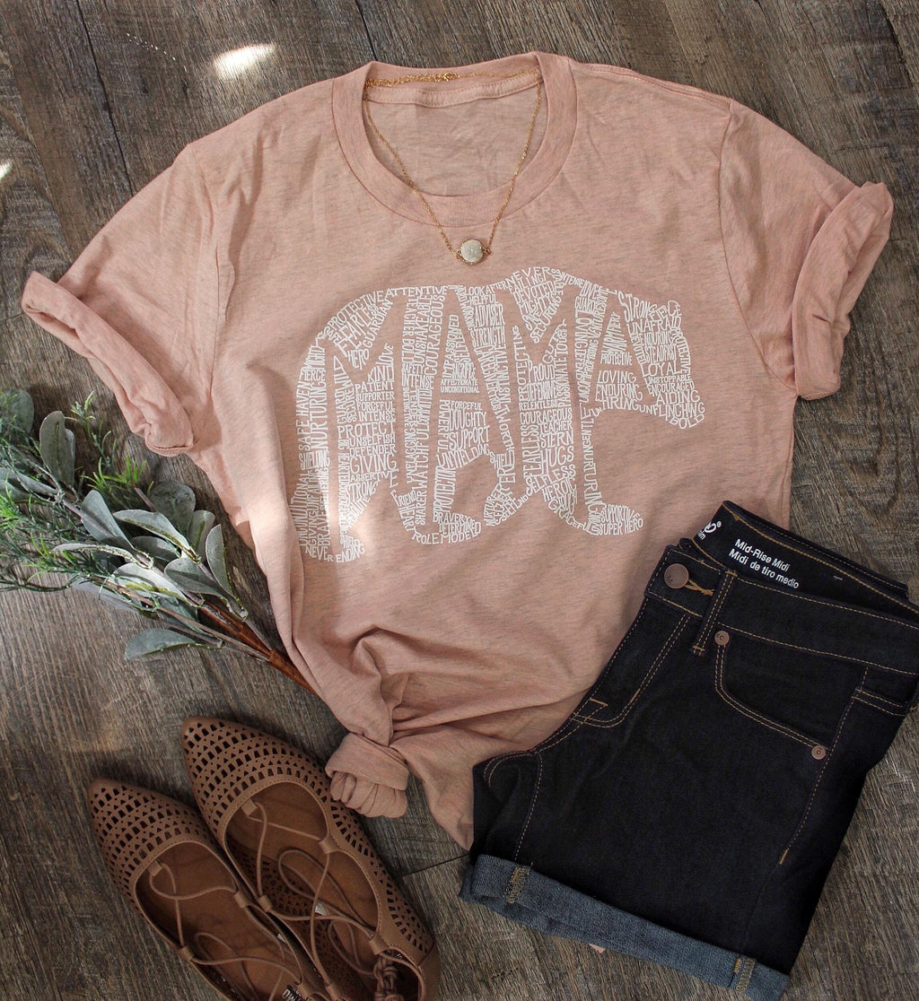 What's In A Mama heathered dusty rose tee