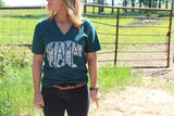 Forest Green What's In A Mama V-Neck