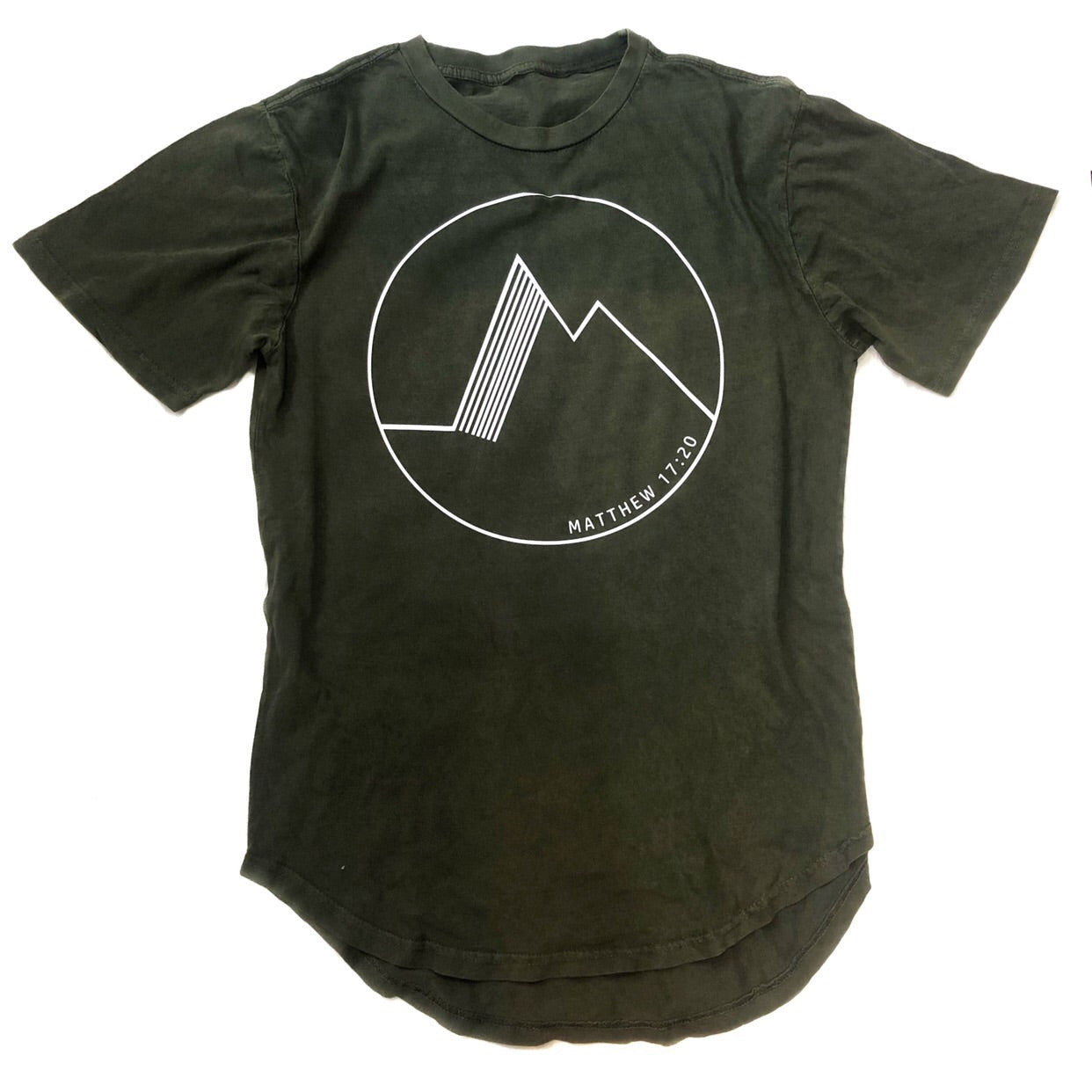 Matthew 17:20 Mineral wash long body tee
