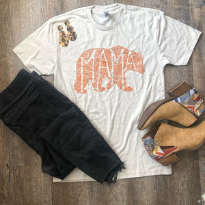 What's In a Mama dust with Texas orange print