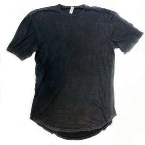 | Customizable | Mineral wash long body tee - vintage black