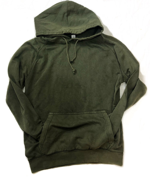 | Customizable | Mineral Wash Military green hoodie