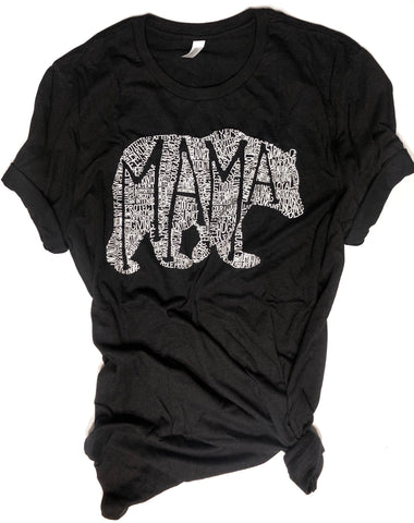 What's In A Mama Tri-Black Crew Neck