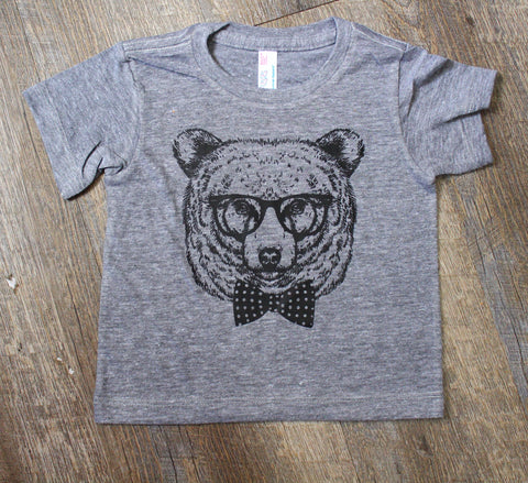 Bear bow tie graphic tee
