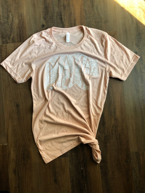 What's In A Mama Dusty Rose tee