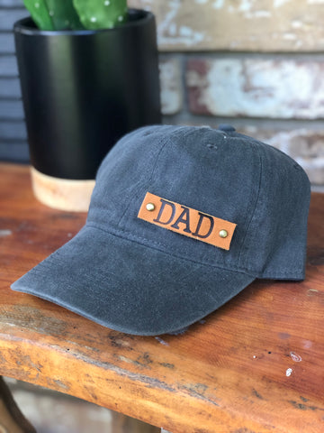 Baseball Style Leather Dad cap