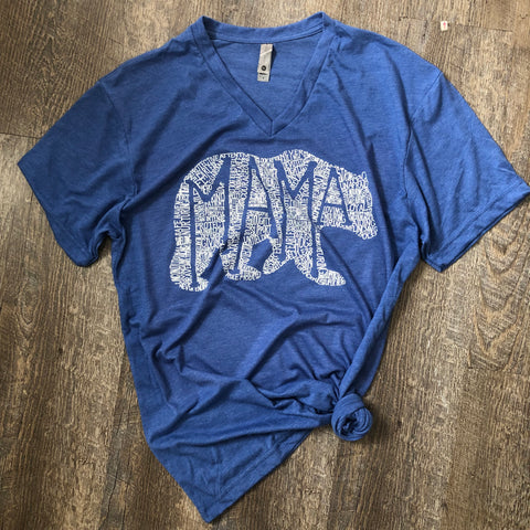 What's In A Mama Royal V-Neck