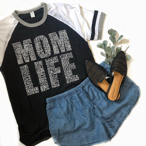 White & Black Eco Mom Life tee