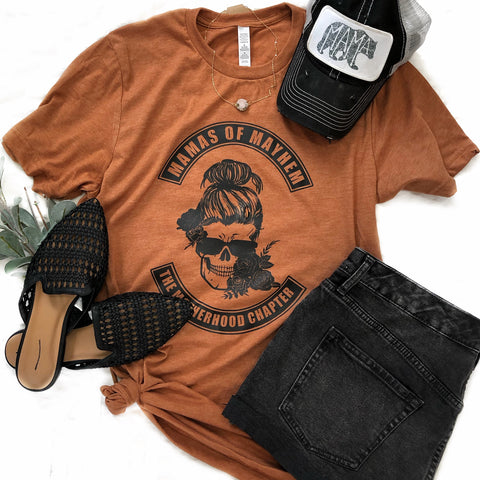 Mamas Of Mayhem pumpkin spice tee