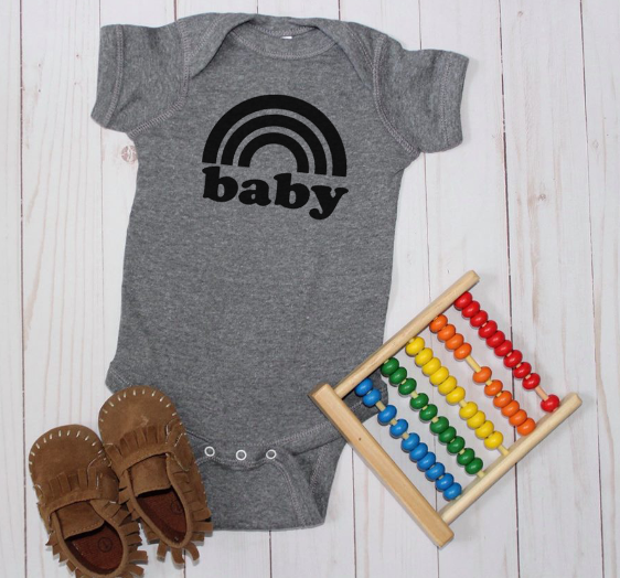 Rainbow baby (infant and toddler sizes)