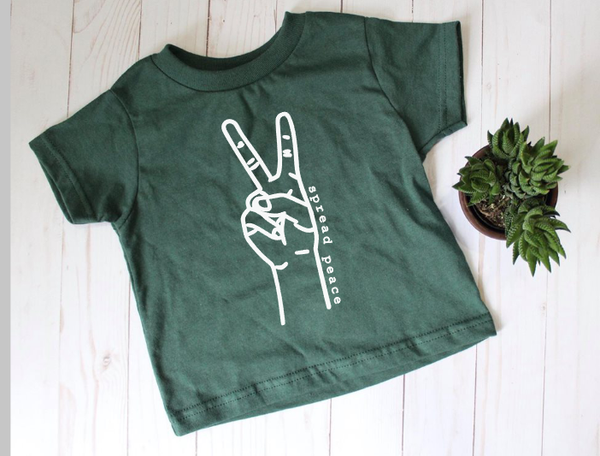 Spread Peace kid's tee