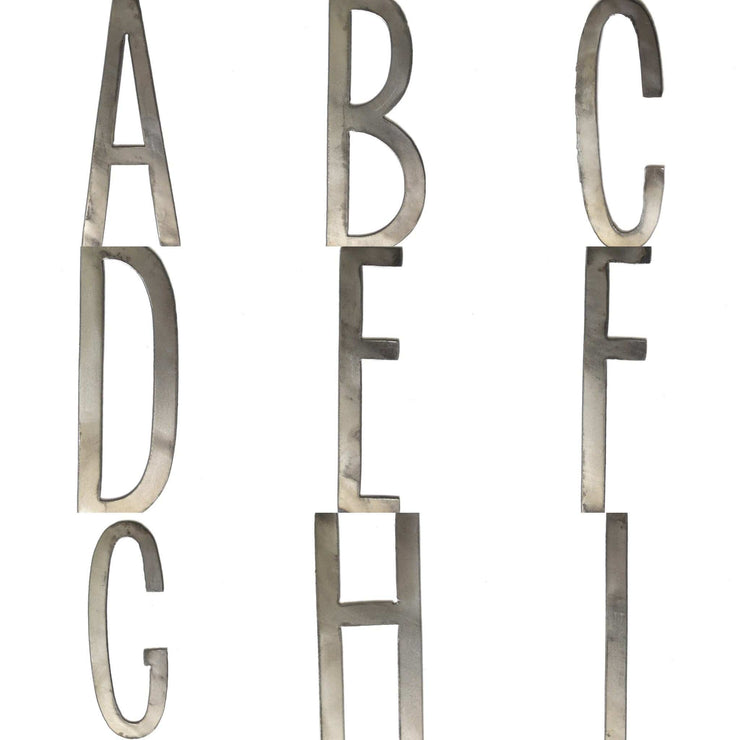 "6"" Thin Metal Letters / Raw Steel"