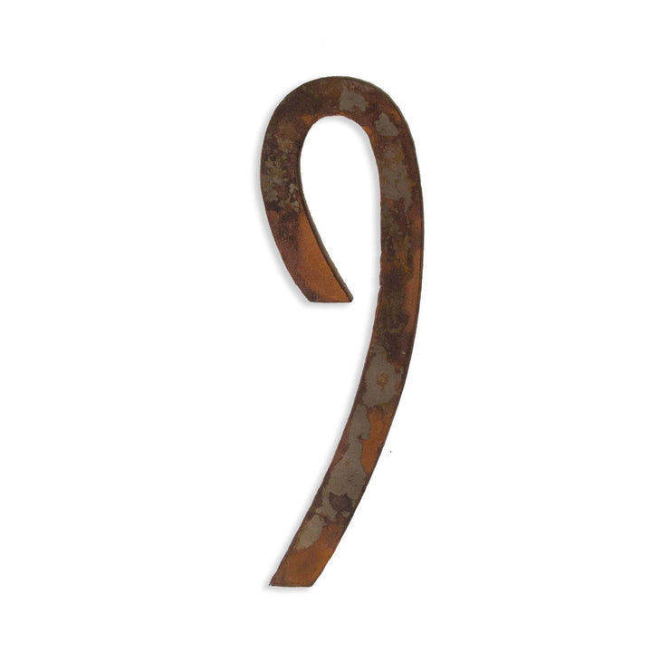 "Modern Rusty Metal Numbers / 4"" to 8"""