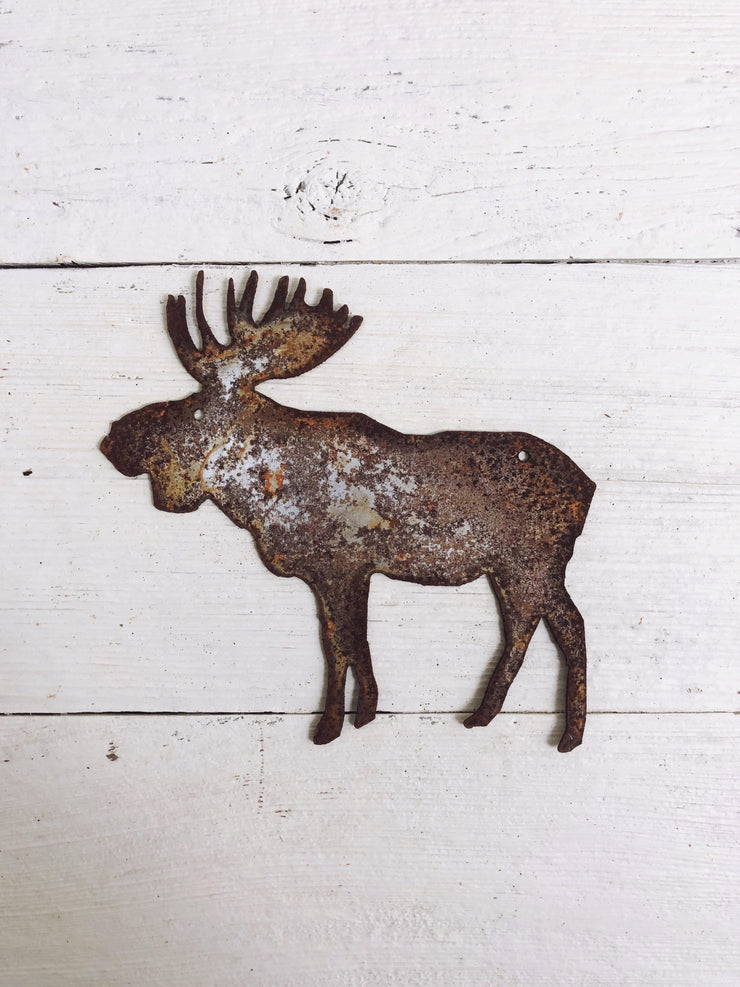 "Moose Shape / 4"" to 24"" tall / Rusty or Raw Metal"