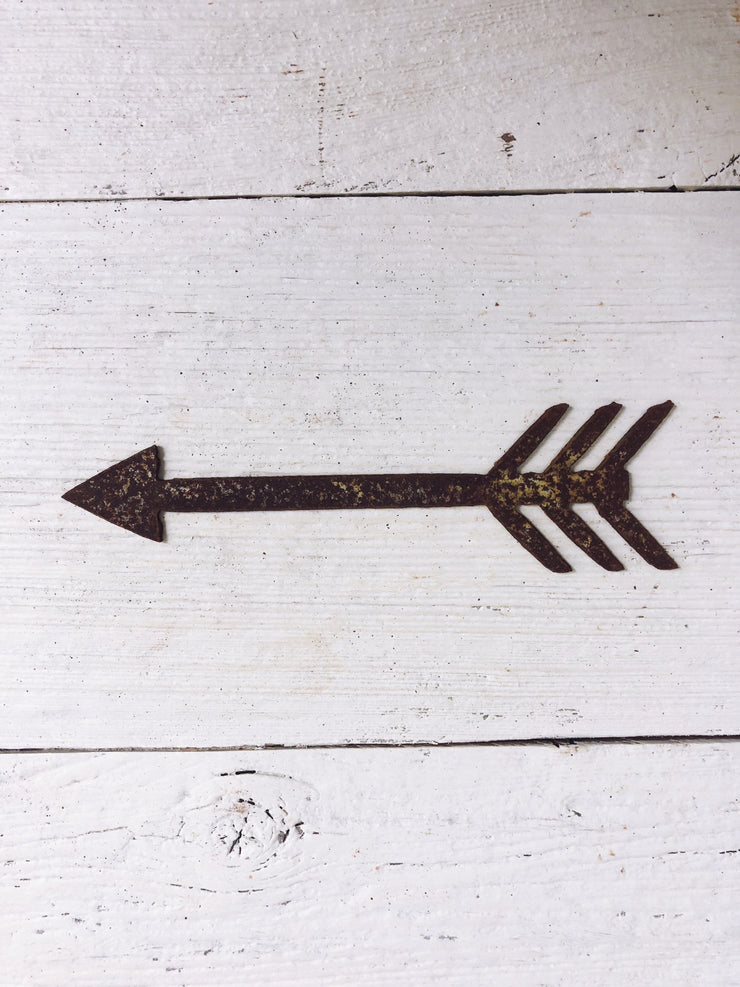 "Boho Arrow Shape / 4"" to 24"" tall / Rusty or Raw Metal"