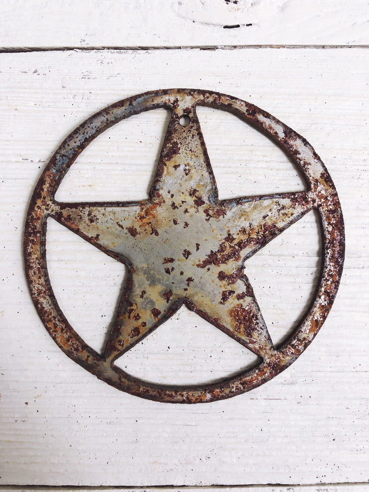 "Texas Star Shape / 4"" to 24"" tall / Rusty or Raw Metal"