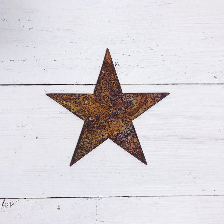 "Star Shape / 4"" to 24"" tall / Rusty or Raw Metal"