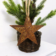 Single or Set of 3 Rusty Metal STAR Ornament(s)