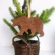 Single or Set of 3 Rusty Metal BEAR Ornament(s)