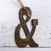 Single or Set of 3 Rusty Metal AMPERSAND & Ornament(s)