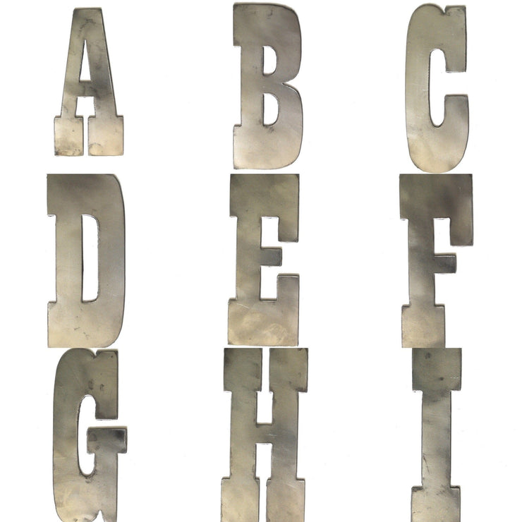 "6"" Farmhouse Metal Letters / Raw Steel"