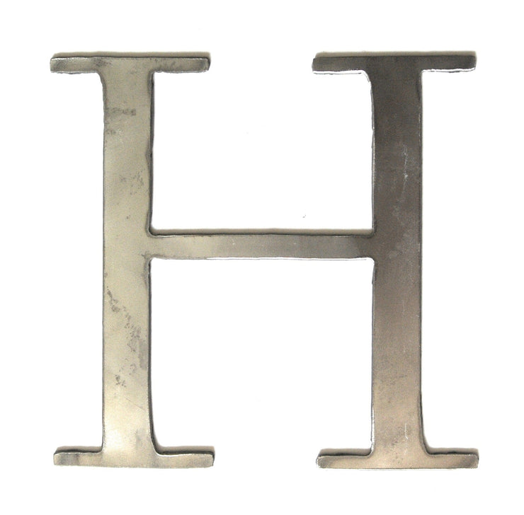 "Serif Uncoated Metal Letters / 4"" to 8"""