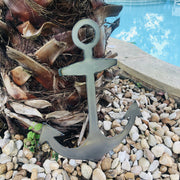 "Anchor Shape / 4"" to 24"" tall / Rusty or Raw Metal"