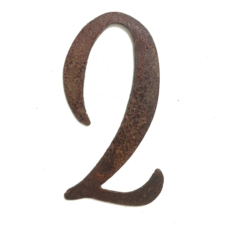 "Cosmic Rusty Metal Numbers / 4"" to 8"""