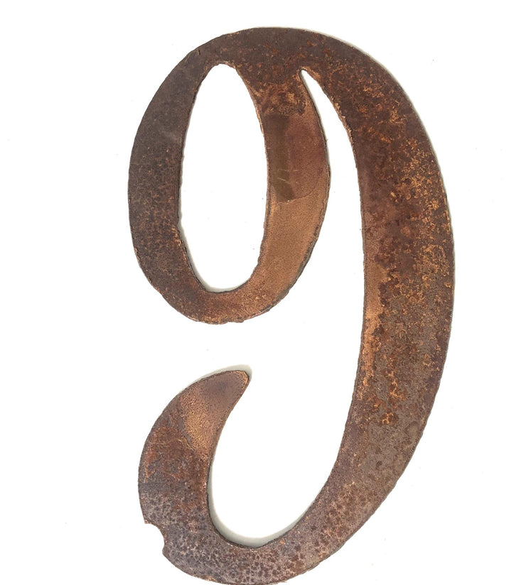 "Cosmic Rusty Metal Numbers / 12"" to 24"""