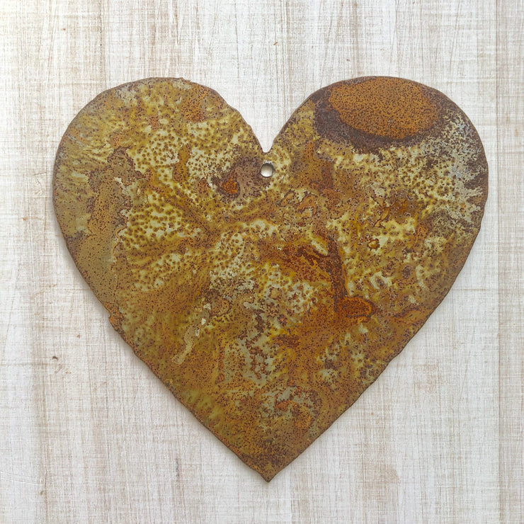 "Heart Shape / 4"" to 24"" tall / Rusty or Raw Metal"
