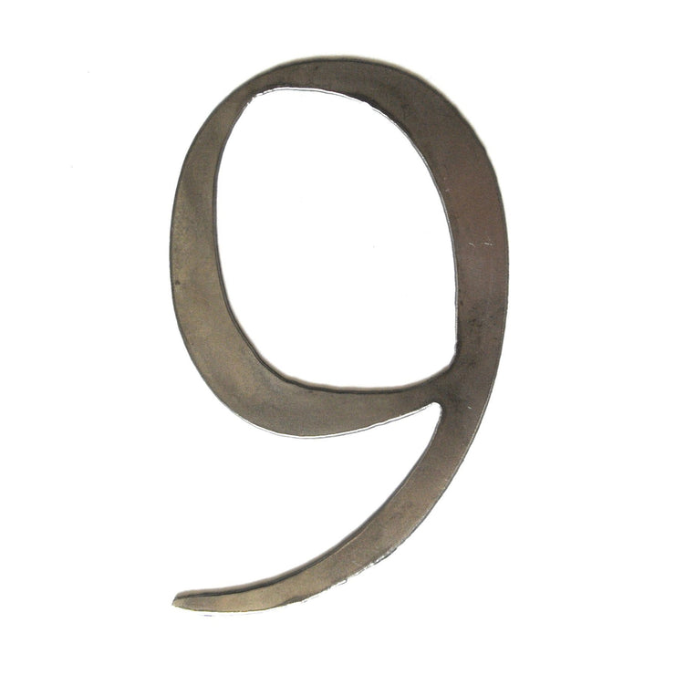 "Serif Uncoated Metal Numbers / 4"" to 8"""