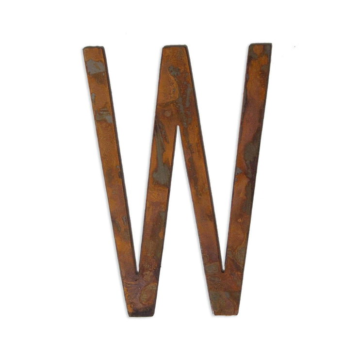 "Modern Rusty Metal Letters / 4"" to 8"""