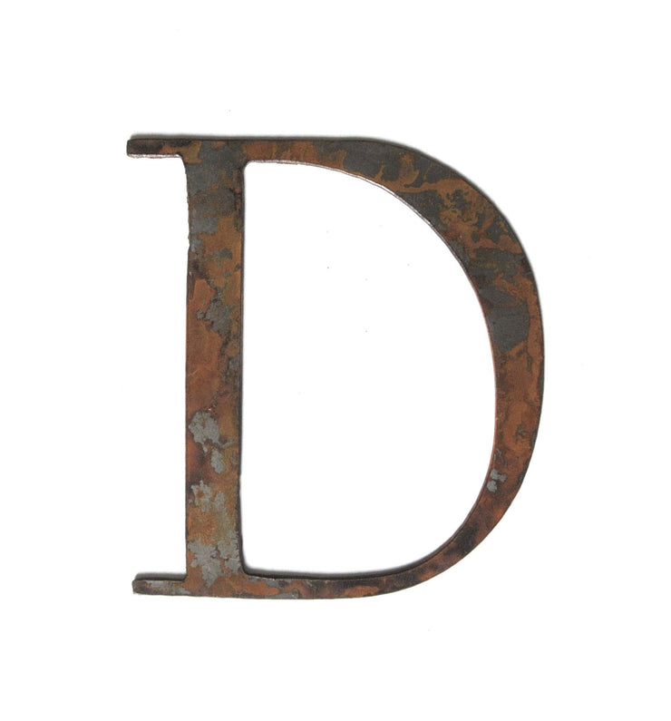 "Serif Rusty Metal Letters / 4"" to 8"""