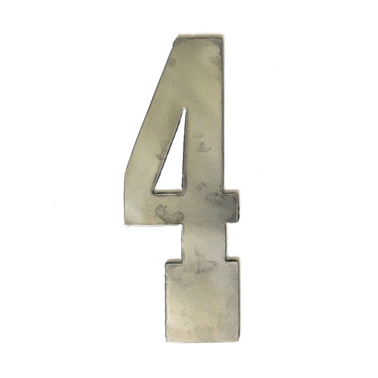 "Farmhouse Uncoated Metal Numbers / 4"" to 8"""