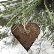 Lake Tahoe - Rusty Metal Ornament Gift Set - TREE, TAHOE, HEART