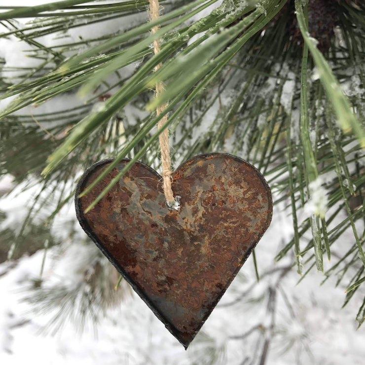 Tahoe Lake Life - Rusty Metal Ornament Gift Set - ANCHOR, TAHOE, HEART